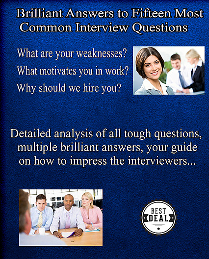 15 most common interview questions eBook cover, 1st bonus material