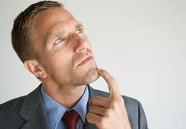 a job seeker (young man) is thinking about his interview answers