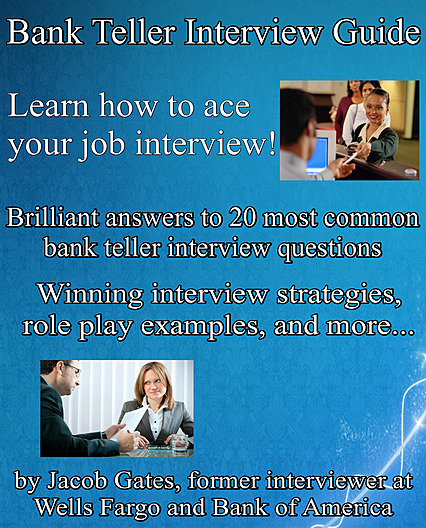 Order Bank Teller Interview Guide Discounted Copy