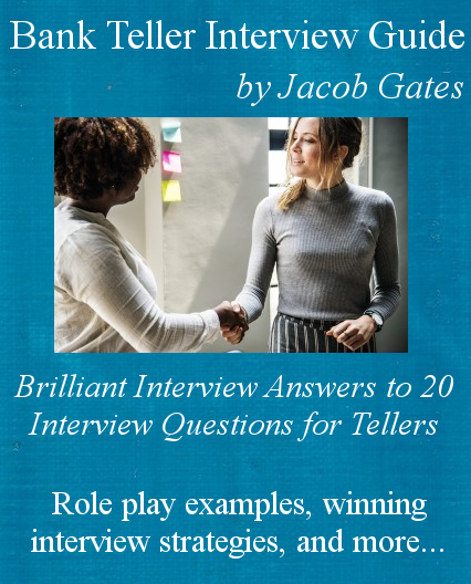 cover of new edition of bank teller interview guide